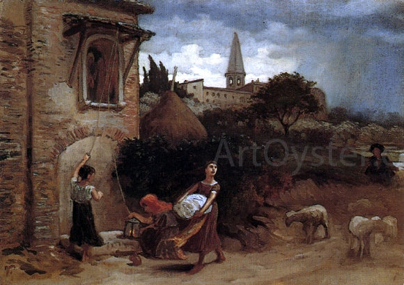 Elihu Vedder Coming Storm - Canvas Art Print