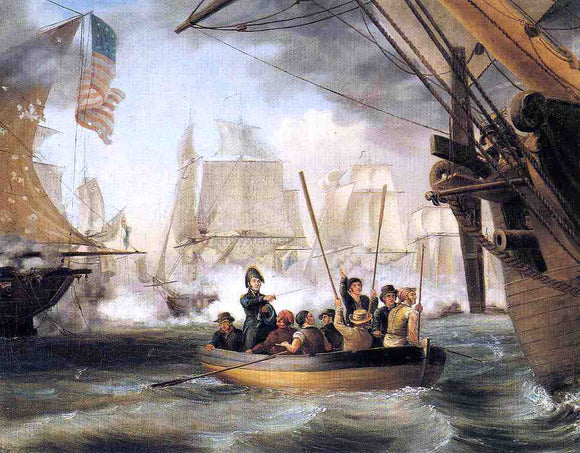 Thomas Birch Commodore Perry Leaving the