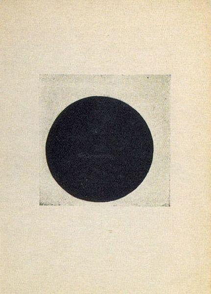Kazimir Malevich Composition with a  Black Circle - Canvas Art Print