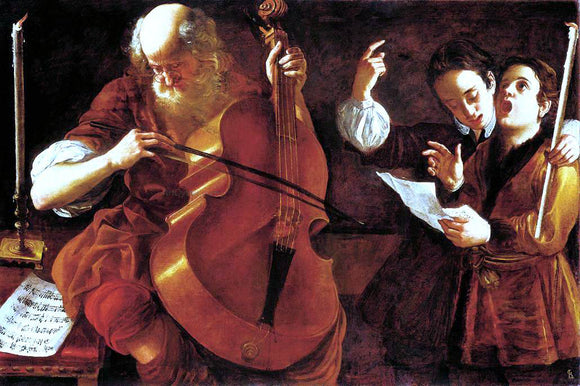 Giovanni Domenico Lombardi Concert with Two Singers - Canvas Art Print