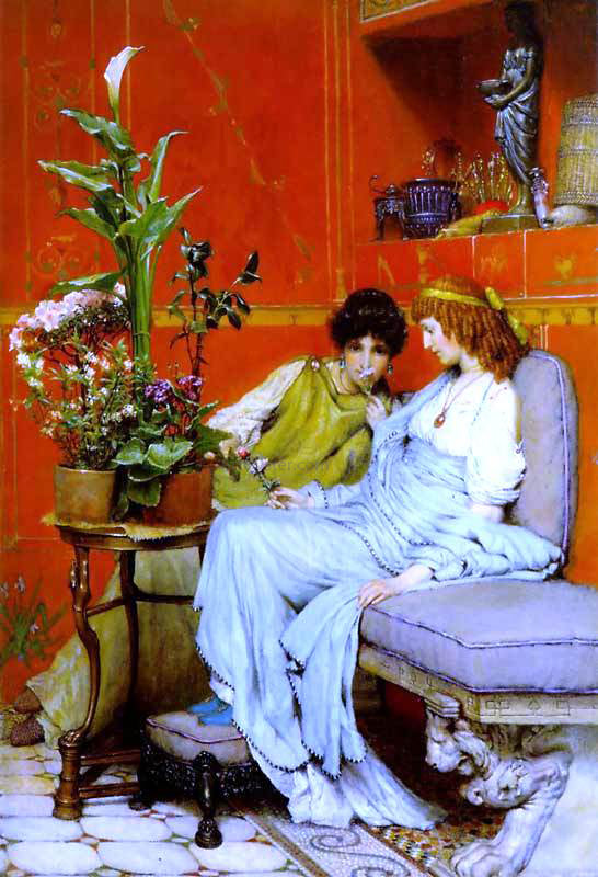 Sir Lawrence Alma-Tadema Confidences - Canvas Art Print