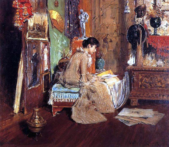 William Merritt Chase Connoisseur - The Studio Corner - Canvas Art Print