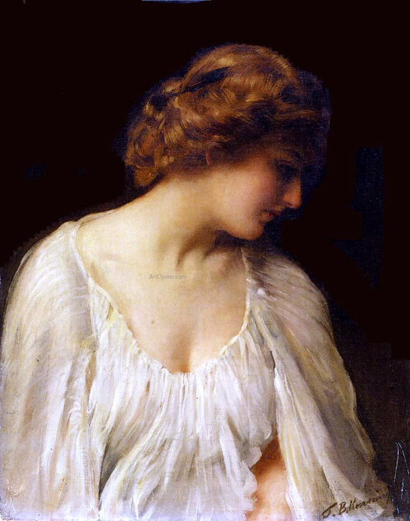 Thomas Benjamin Kennington Contemplation - Canvas Art Print