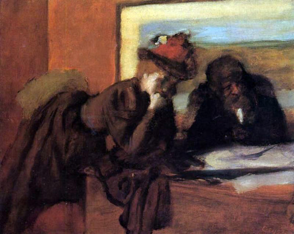 Edgar Degas Conversation - Canvas Art Print