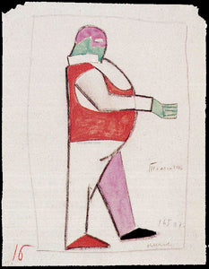 Kazimir Malevich Costume Design for the Opera Victory Over the Sun - Canvas Art Print