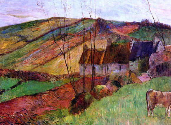 Paul Gauguin Cottages on Mount Sainte-Marguerite - Canvas Art Print