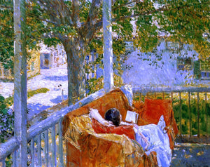 Frederick Childe Hassam Couch on the Porch, Cos Cob - Canvas Art Print