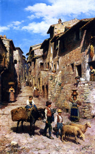 Francesco Bergamini Country Life - Canvas Art Print