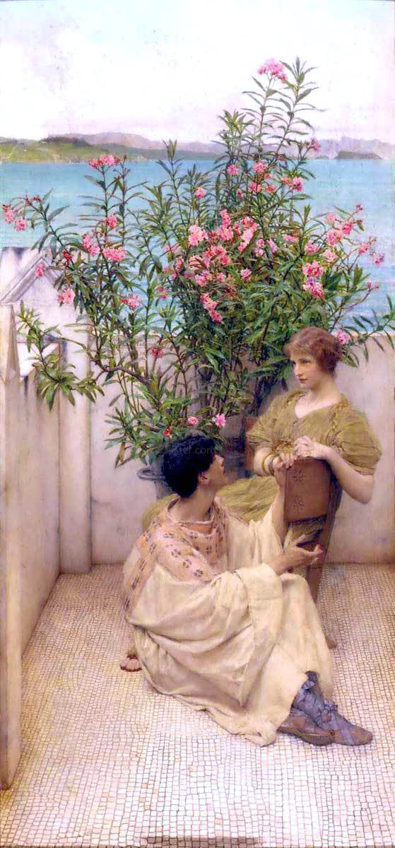 Sir Lawrence Alma-Tadema Courtship - Canvas Art Print