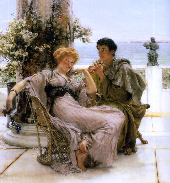 Sir Lawrence Alma-Tadema Courtship - The Proposal - Canvas Art Print
