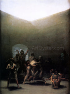 Francisco Jose de Goya Y Lucientes Courtyard with Lunatics - Canvas Art Print