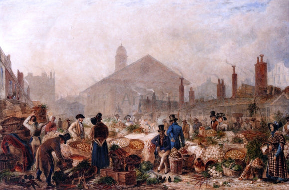 George Sidney Shepherd Covent Garden Market - Canvas Art Print