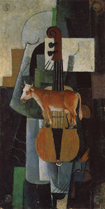 Kazimir Malevich Cow and Fiddle - Canvas Art Print