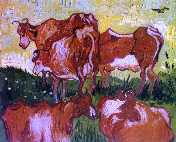 Vincent Van Gogh Cows (after Jorsaens) - Canvas Art Print