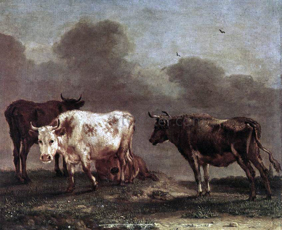 Paulus Potter Cows in a Meadow - Canvas Art Print