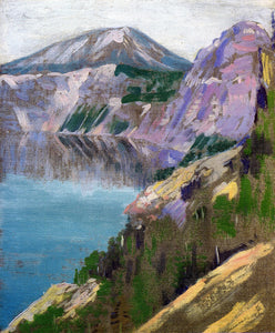 Arthur Wesley Dow Crater Lake - Canvas Art Print