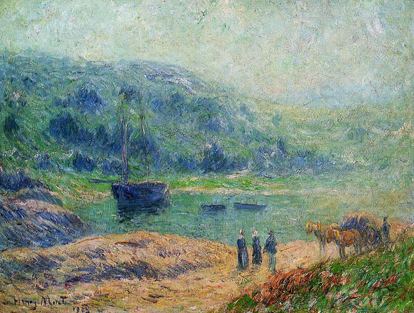 Henri Moret Creek in Brittany - Canvas Art Print