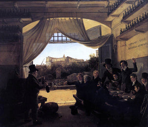 Franz Ludwig Catel Crown Prince Ludwig in the Spanish Wine Tavern in Rome - Canvas Art Print