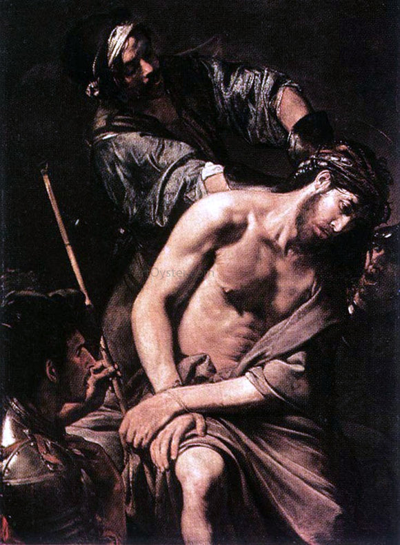 Valentin De boulogne Crowning with Thorns - Canvas Art Print