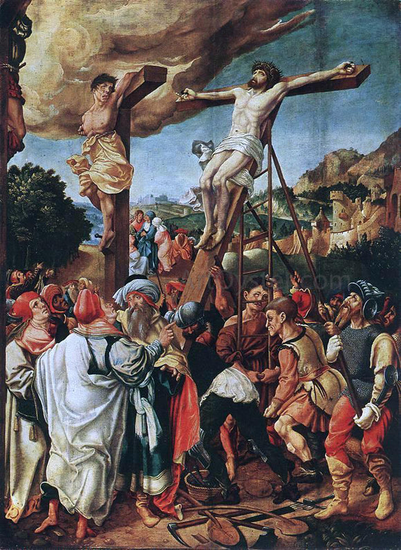 The Elder Jorg Breu Crucifixion - Canvas Art Print