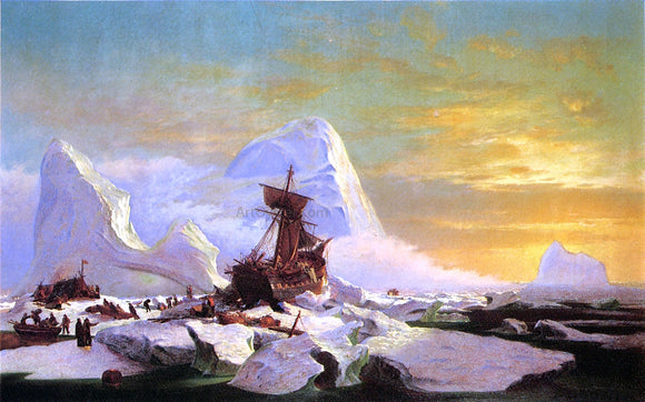 William Bradford Crushed in the Ice - Canvas Art Print