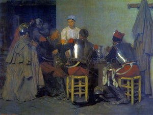 Guillaume Regamey Cuirassiers at the Tavern - Canvas Art Print
