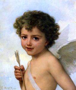 Emile Munier Cupid (also known as Amour) - Canvas Art Print
