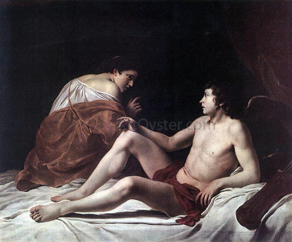 Orazio Gentileschi Cupid and Psyche - Canvas Art Print