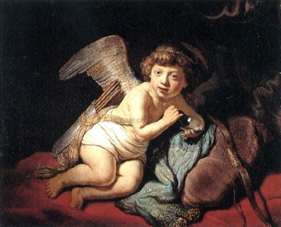 Rembrandt Van Rijn Cupid Blowing Soap Bubbles - Canvas Art Print