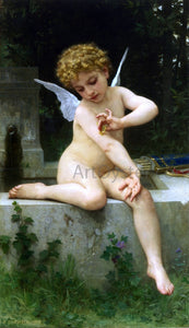 William Adolphe Bouguereau Cupid with Butterfly - Canvas Art Print