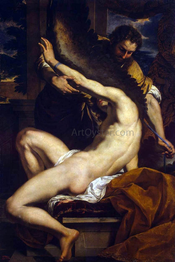 Charles Le Brun Daedalus and Icarus - Canvas Art Print