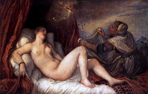 Titian Danae - Canvas Art Print
