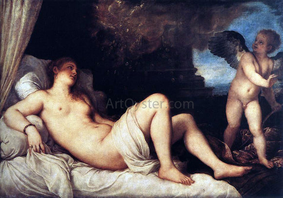 Titian Danae and the Shower of Gold - Canvas Art Print