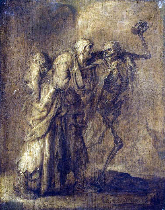 Adriaen Pietersz Van de Venne Dance of Death - Canvas Art Print