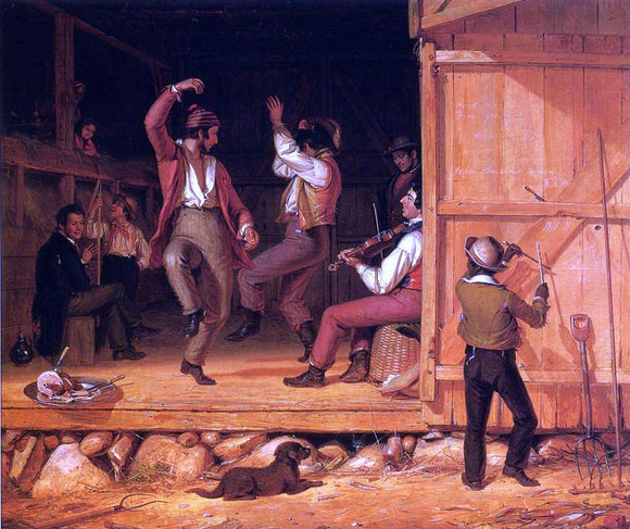 William Sidney Mount Dance of the Haymakers - Canvas Art Print