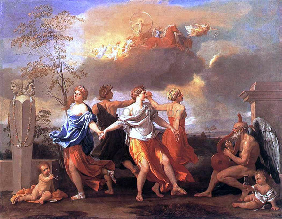 Nicolas Poussin Dance to the Music of Time - Canvas Art Print