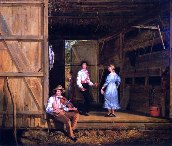 William Sidney Mount Dancing on the Barn Floor - Canvas Art Print