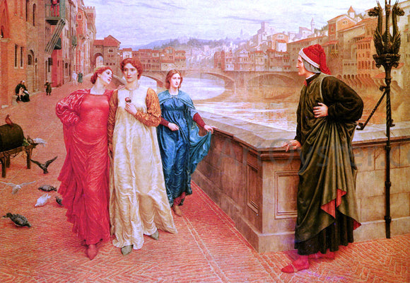Henry Holiday Dante and Beatrice - Canvas Art Print