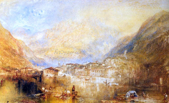 Joseph William Turner Dartmouth Castle, on the River Dart - Canvas Art Print