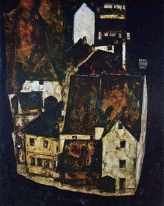 Egon Schiele Dead City III (also known as City on the Blue River III) - Canvas Art Print