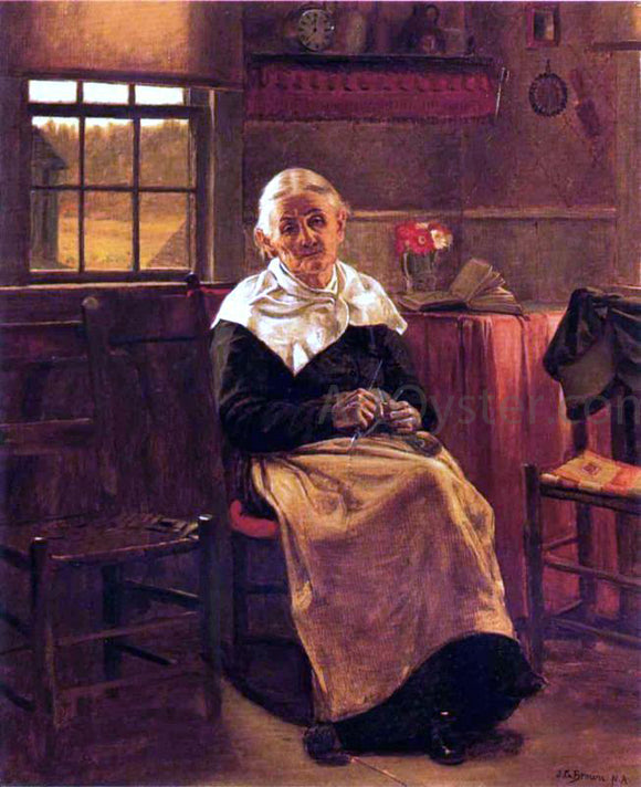 John George Brown Dear Old Grannie - Canvas Art Print