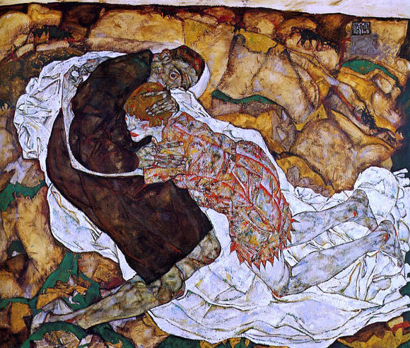 Egon Schiele Death and the Maiden - Canvas Art Print