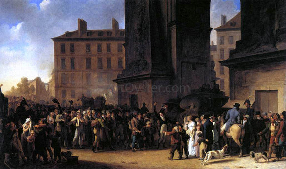 Louis Leopold Boilly Departure of the Conscripts in 1807 - Canvas Art Print