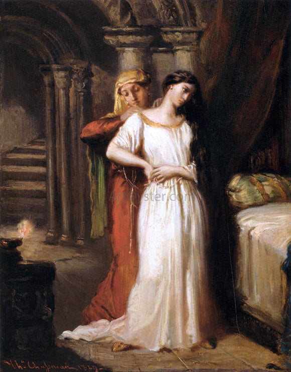 Theodore Chasseriau Desdemona Retiring to Her Bed - Canvas Art Print