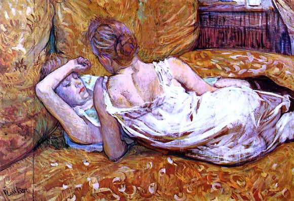 Henri De Toulouse-Lautrec Devotion: the Two Girlfriends - Canvas Art Print