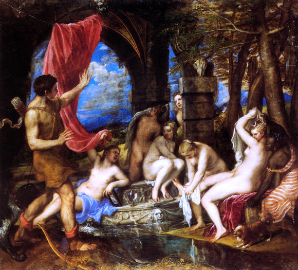 Titian Diana and Actaeon - Canvas Art Print