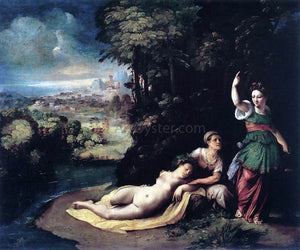 Dosso Dossi Diana and Calisto - Canvas Art Print