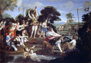 Domenichino Diana and her Nymphs - Canvas Art Print