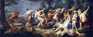 Peter Paul Rubens Diana and her Nymphs Surprised by the Fauns - Canvas Art Print