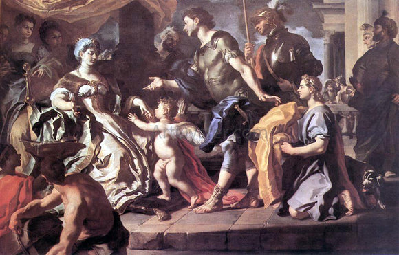 Francesco Solimena Dido Receiving Aeneas and Cupid Disguised as Ascanius - Canvas Art Print